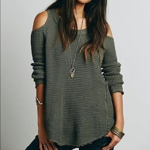 Free People Sunset Cold Shoulder Sweater